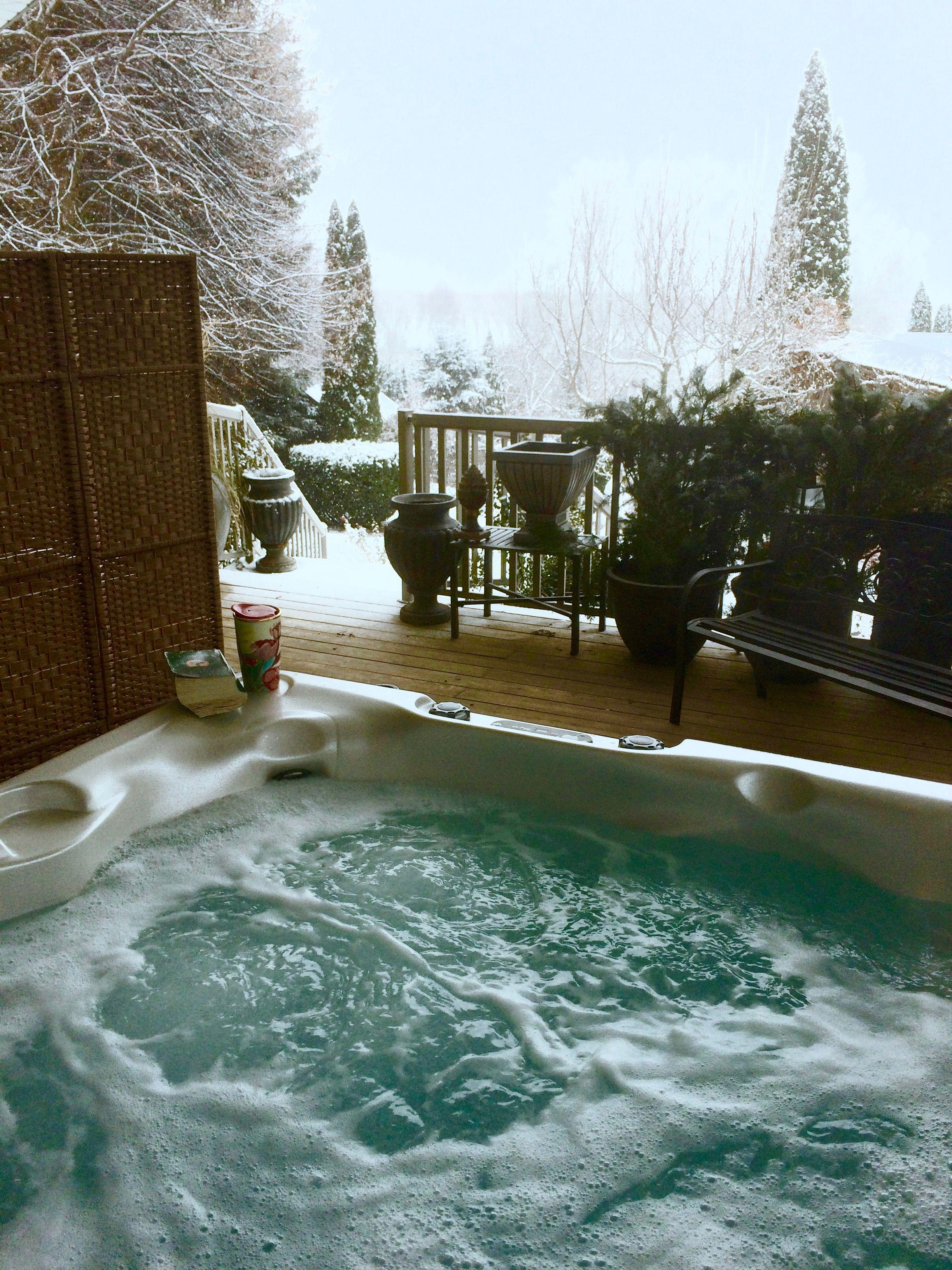 Winter Beachcomber Hot Tub Shot Beachcomberhottubs Hottubs Outdoorliving Winter Hot Tub Hot Tub Designs Dream Backyard