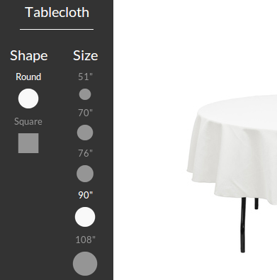 Tablecloth Sizing Tool