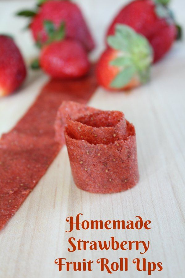 Making your own Fruit Roll Ups, as known as Fruit Leather is not only easy, but much better for you. Enjoy this Homemade Strawberry Fruit Roll Ups Recipe.