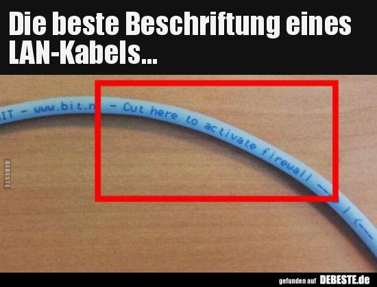 Die beste Beschriftung eines LAN-Kabels...