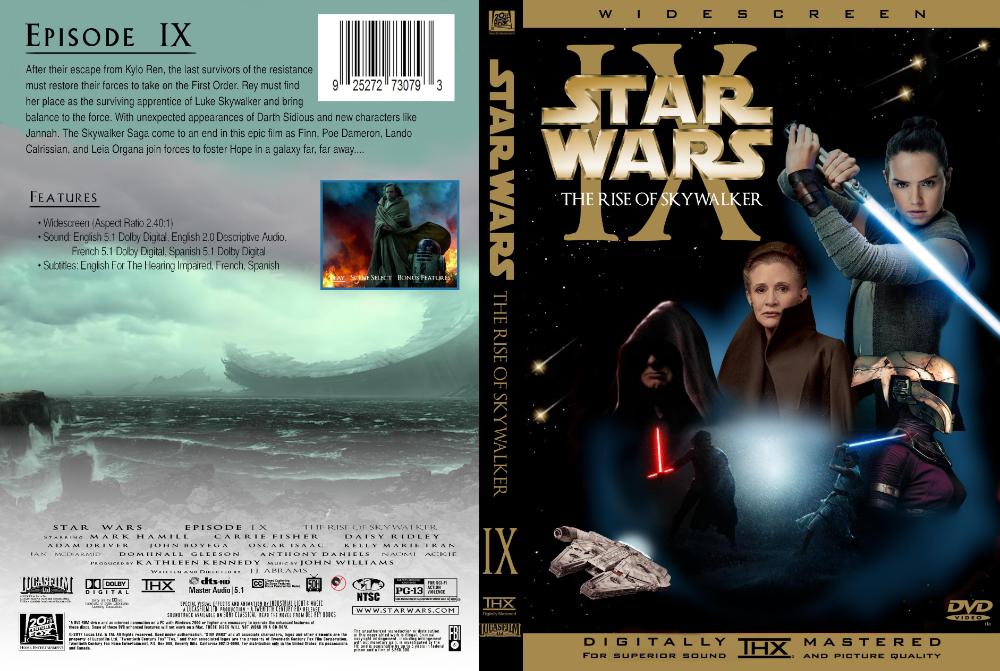Star Wars Episode 9 Ix Rise Of Skywalker Dvd Cover Early Made On Gimp Star Wars Episodes Dvd Covers Star Wars