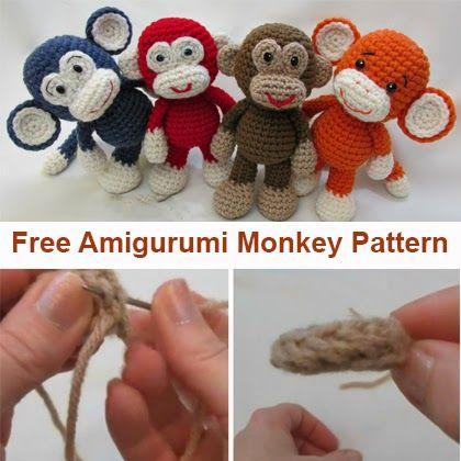 Crochet For Children: Little Bigfoot Monkey Revised Pattern Video ...