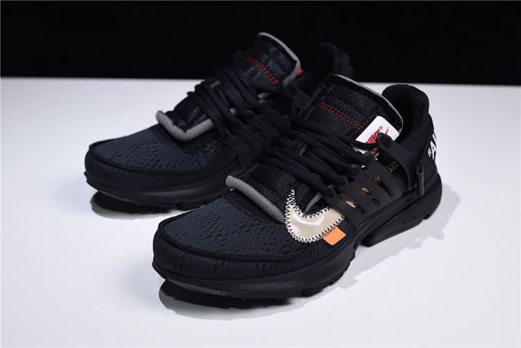 quality design 90dda 14f38 Off White x Nike Air Presto Black THE TEN Sneaker Men And Women Running Shoe