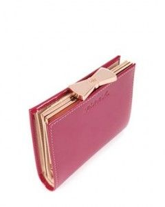 cute pink ted baker purse with bow