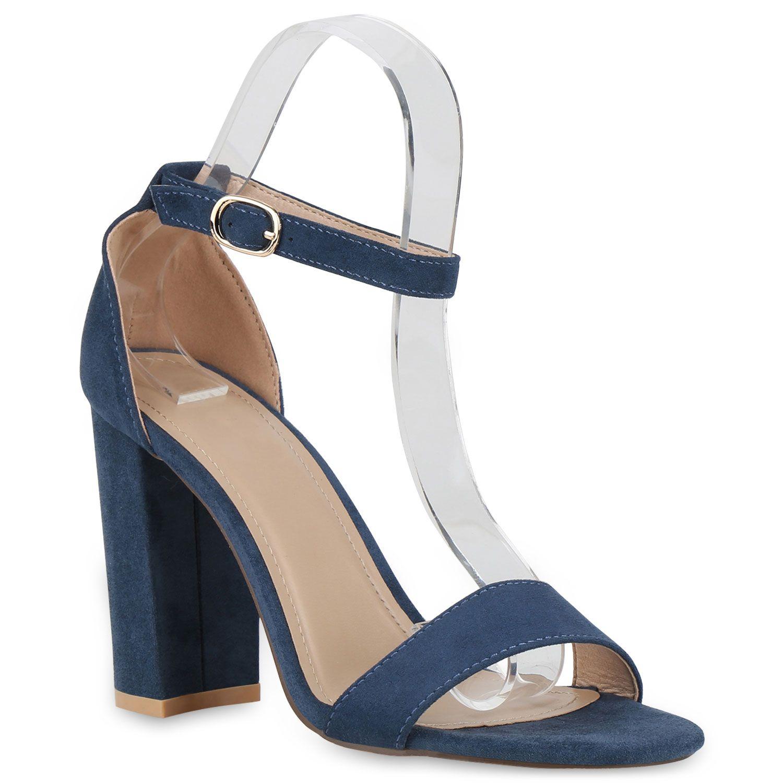 High Heel Sandaletten für Damen in Blau   Komplette Outfits