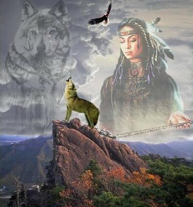 Fonds D Ecran Indiens Et Indiennes Page 7 Native American Art Native American Wolf American Art