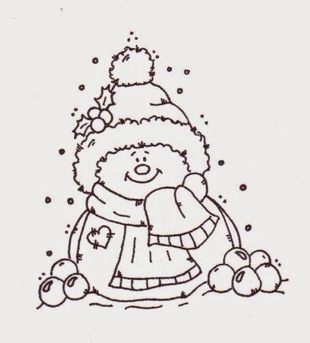 Lindas Imágenes de Muñecos de Nieve para Colorear. | xmas ...