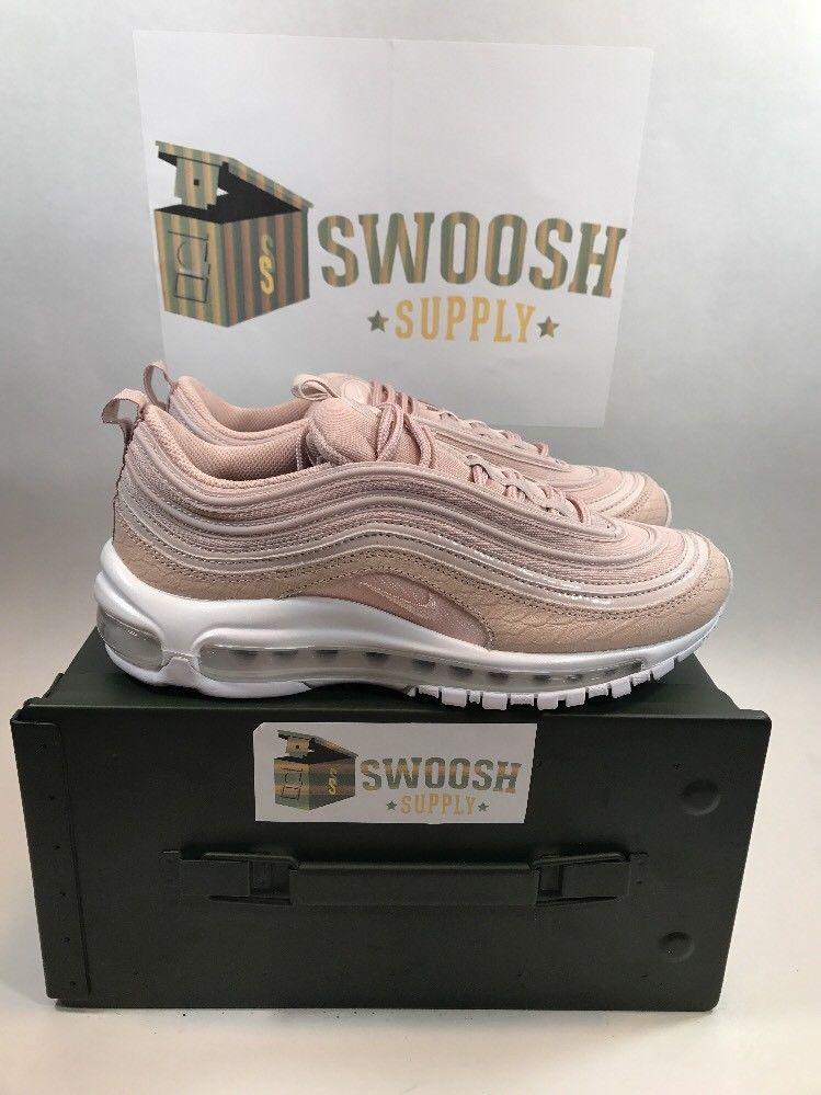 7e5af2118862 Nike Air Max 97 Premium Pink Snakeskin Silt Red White 917646-600 Women s Sz  8  Nike  RunningCrossTraining