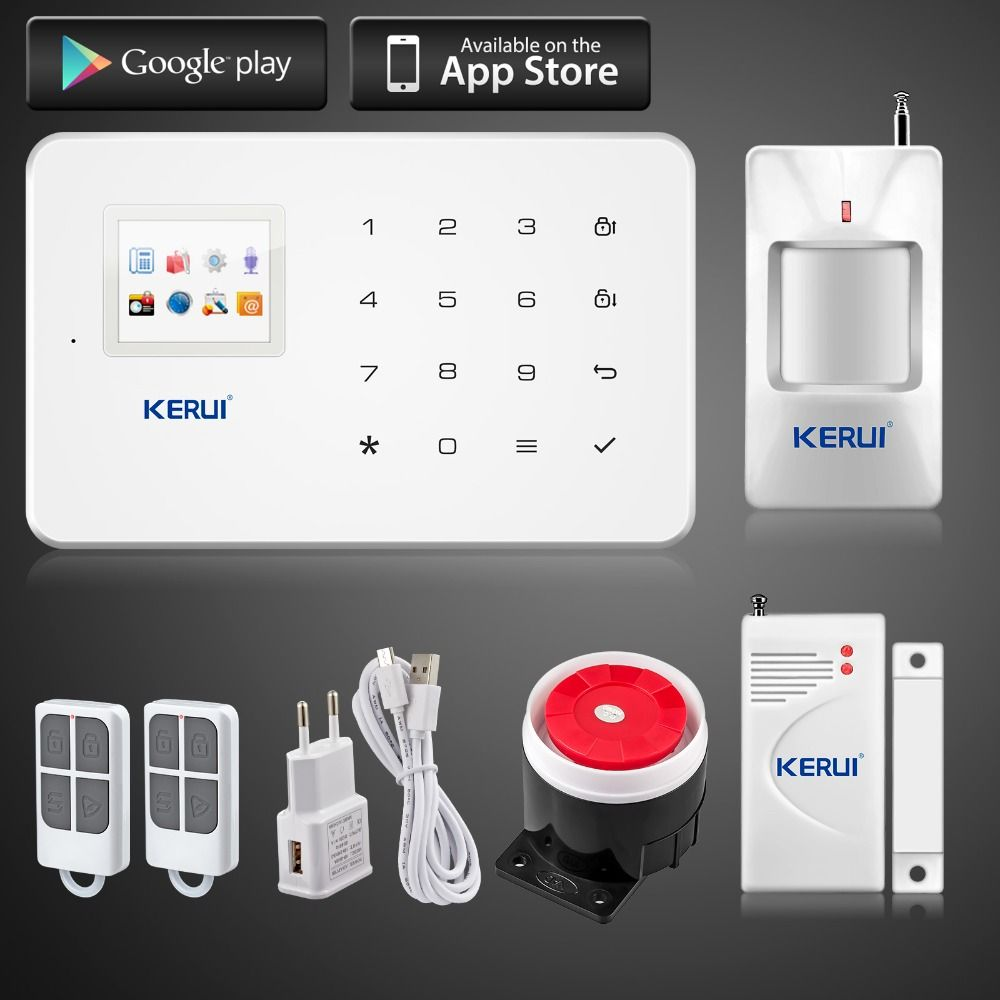 Cheapest Prices Kerui G18 Android /iOS App Control Wireless Security System  Gsm Alarm System