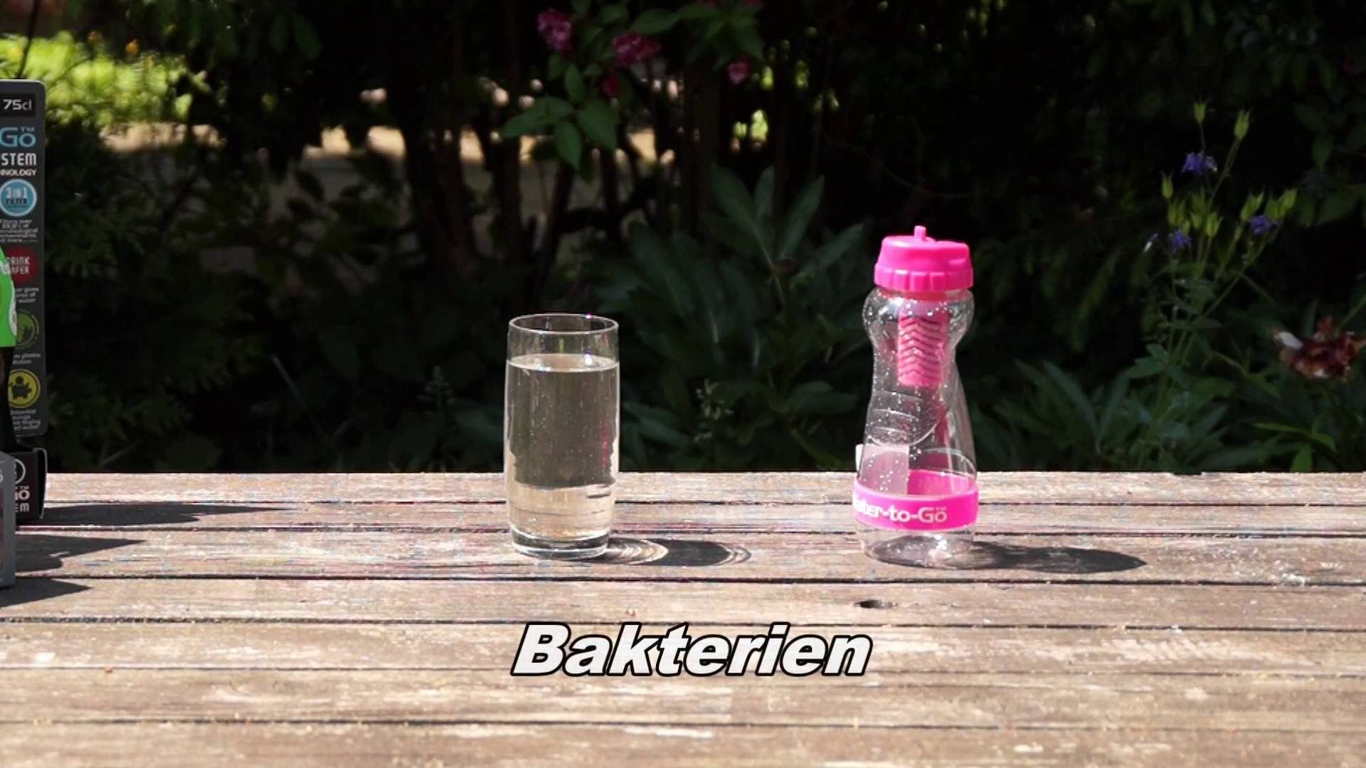 Water-to-Go Trinkflasche mit Filter gegen Viren, Bakterien, Schwermetalle