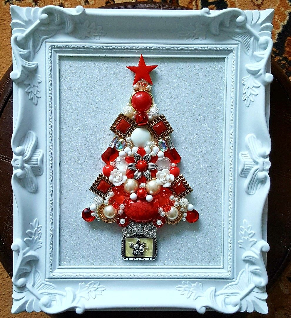 Red and white Christmas jewellery picture | crafts | Pinterest ...