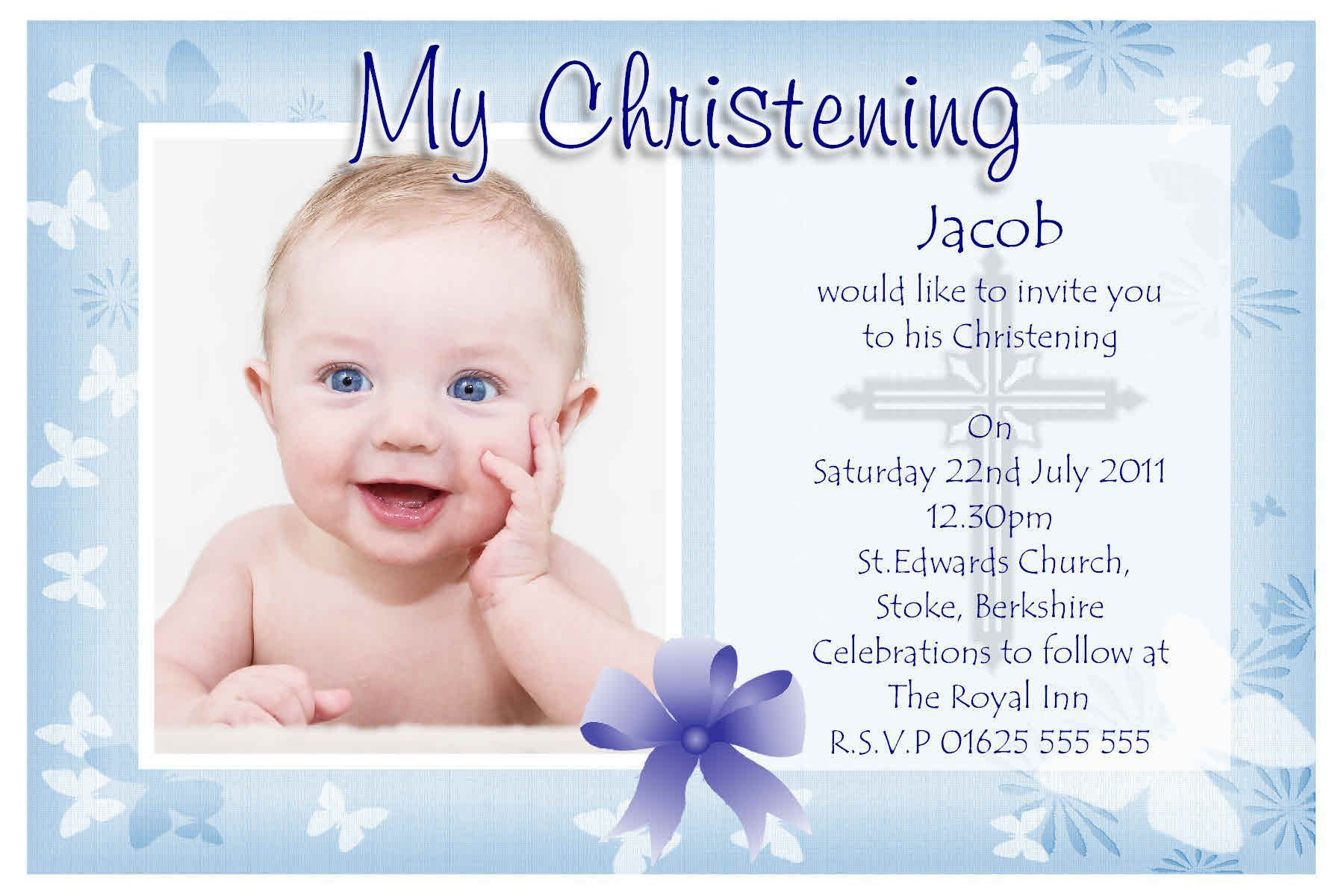 Invitation Card For Christening Blank