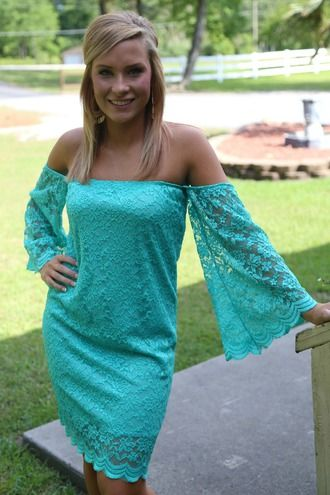 All About That Lace Dress: Turquoise