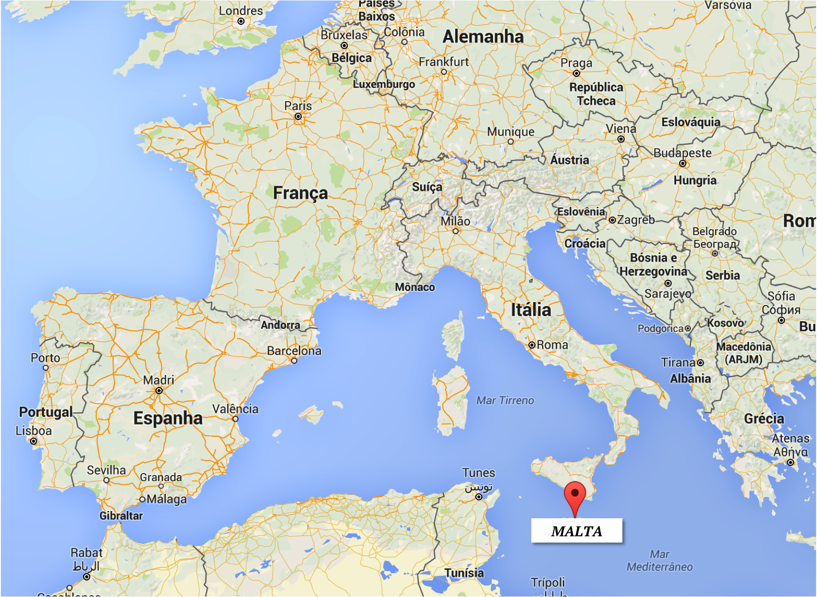 mapa malta google maps Localização   Onde fica Malta? | mapa: Google Maps | Malta  mapa malta google maps