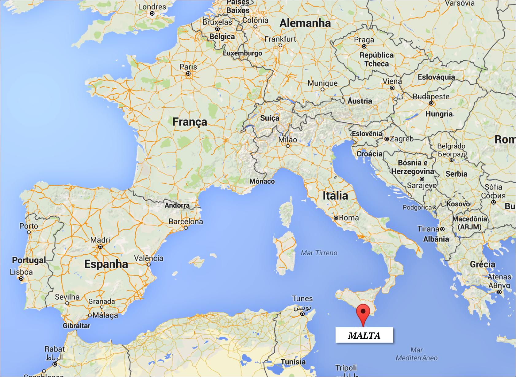 malta mapa Localização   Onde fica Malta? | mapa: Google Maps | Malta  malta mapa