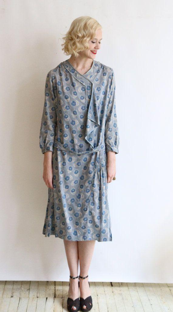 9648574ea4b9ee 1920s Dress // vintage 20s day dress // Cotton by dethrosevintage .
