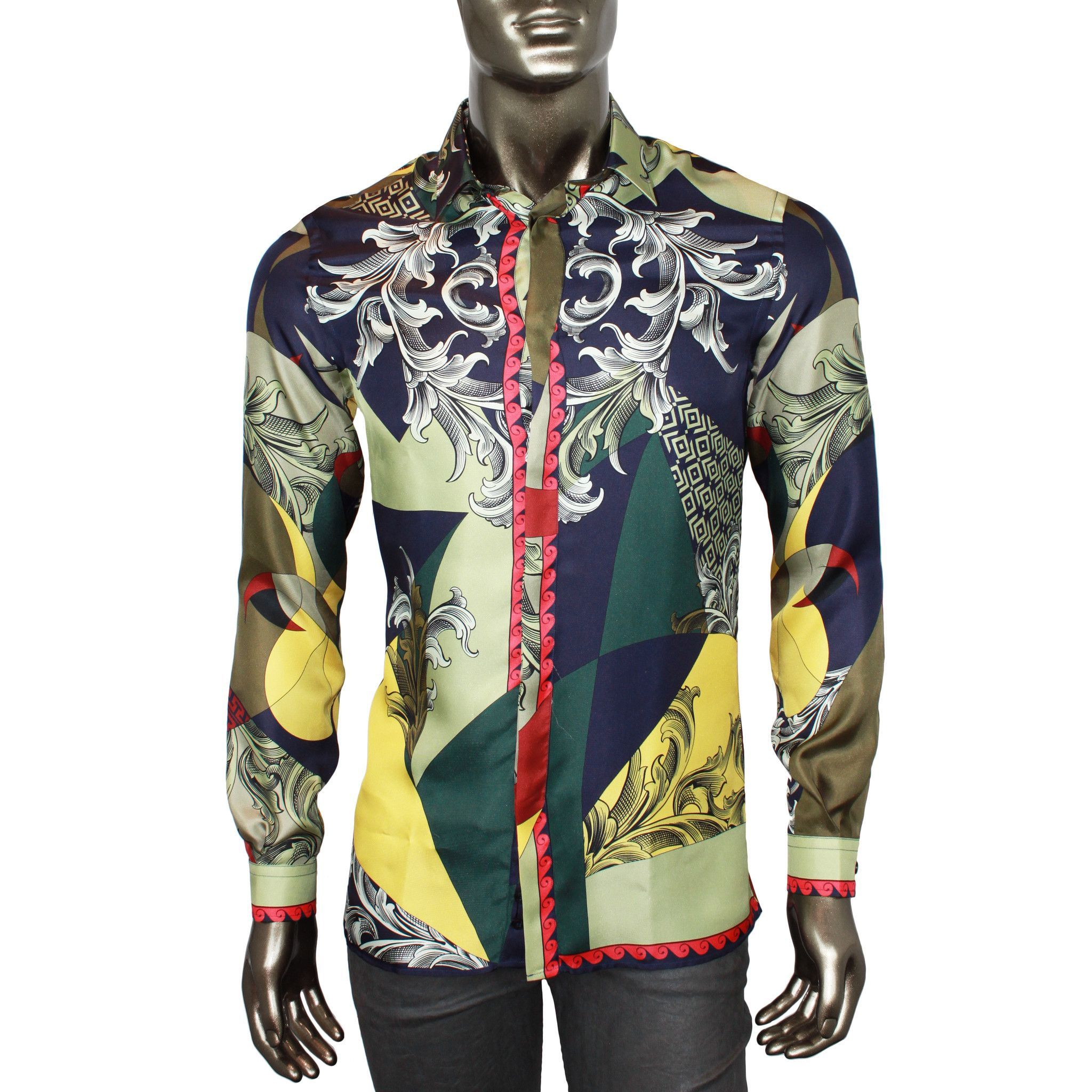 bed3e335140 Versace Trend Silk Button-Down Shirt