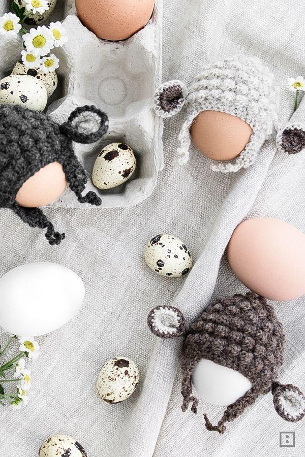 Anleitung Eierwärmer Schaf Ami Crochet Easter Crochet și Knit