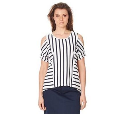 nice STRIPE COLD SHOULDER TOP Check more at http://beautyrun.com.au/shop/stripe-cold-shoulder-top/