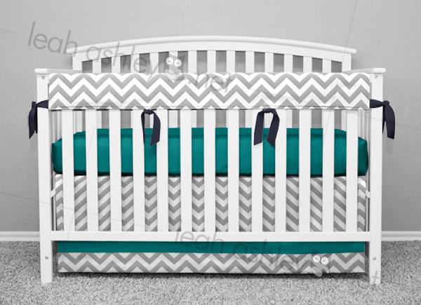 Cot Rail Cover Crib Teething Pad Stars on Baby Blue x 1