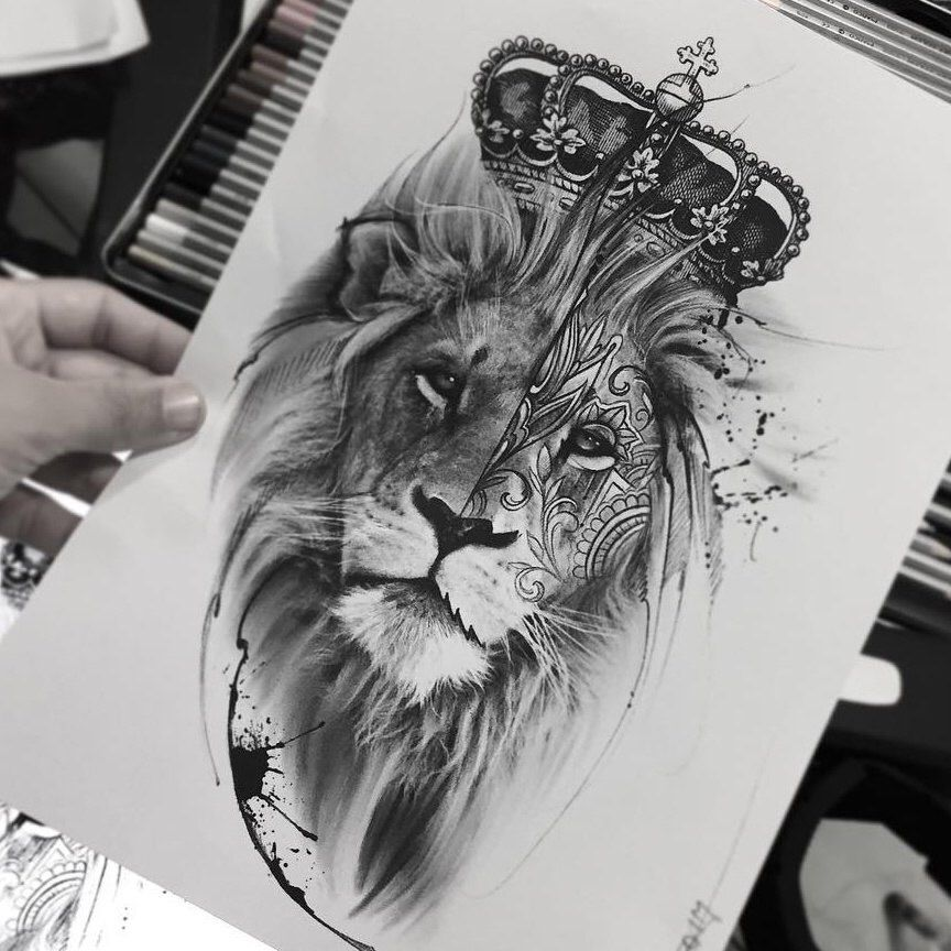 Pin De Uziel En Dibujos Tattoos Lion Tattoo Y Lion Tattoo Design