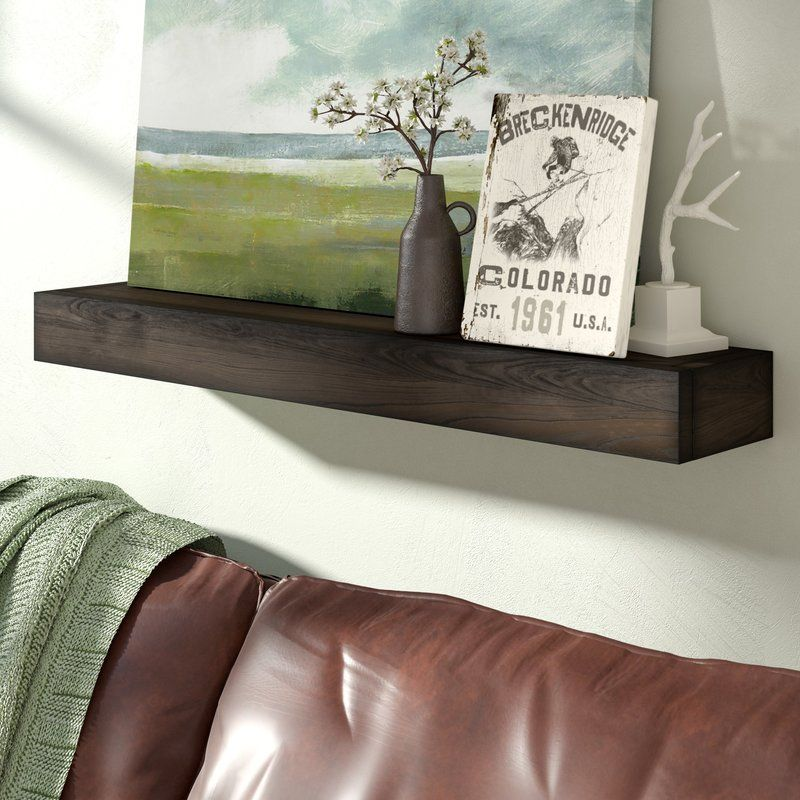 Garvon Floating Shelf Solid Wood Handmade Rustic Style Shelf