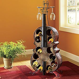 Cello Wine Rack Lol Love It Would Like One Of These R Wine Rack Music Decor Decor