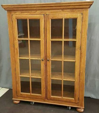 Broyhill Attic Heirloom Oak Library Cabinet
