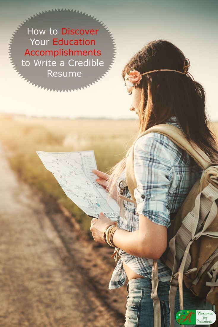 How to discover your education to write a