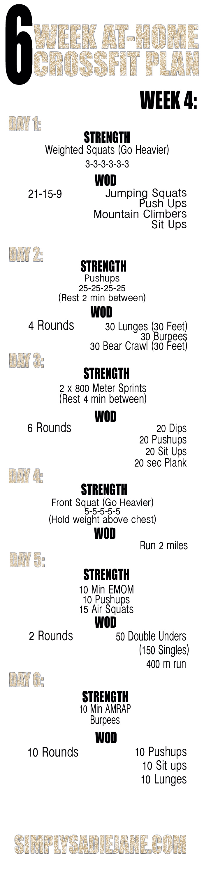 Week   Weight Loss Supplements    Crossfit Workout