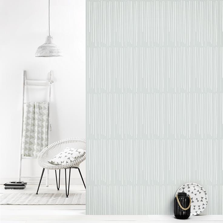 roomblush behang wallpaper rain grey behangpapier woonkamer slaapkamer interieur design muurdecoratie