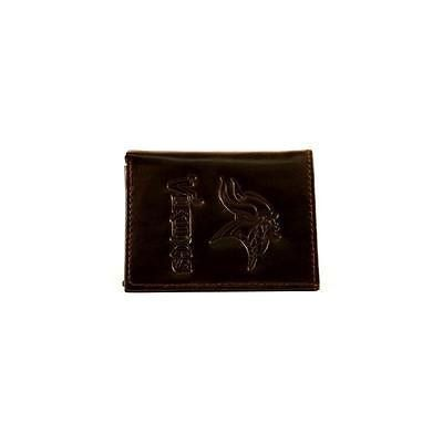 Rico Industries Inc Minnesota Vikings Tri-Fold Black Leather Wallet ... b7bf4a21a
