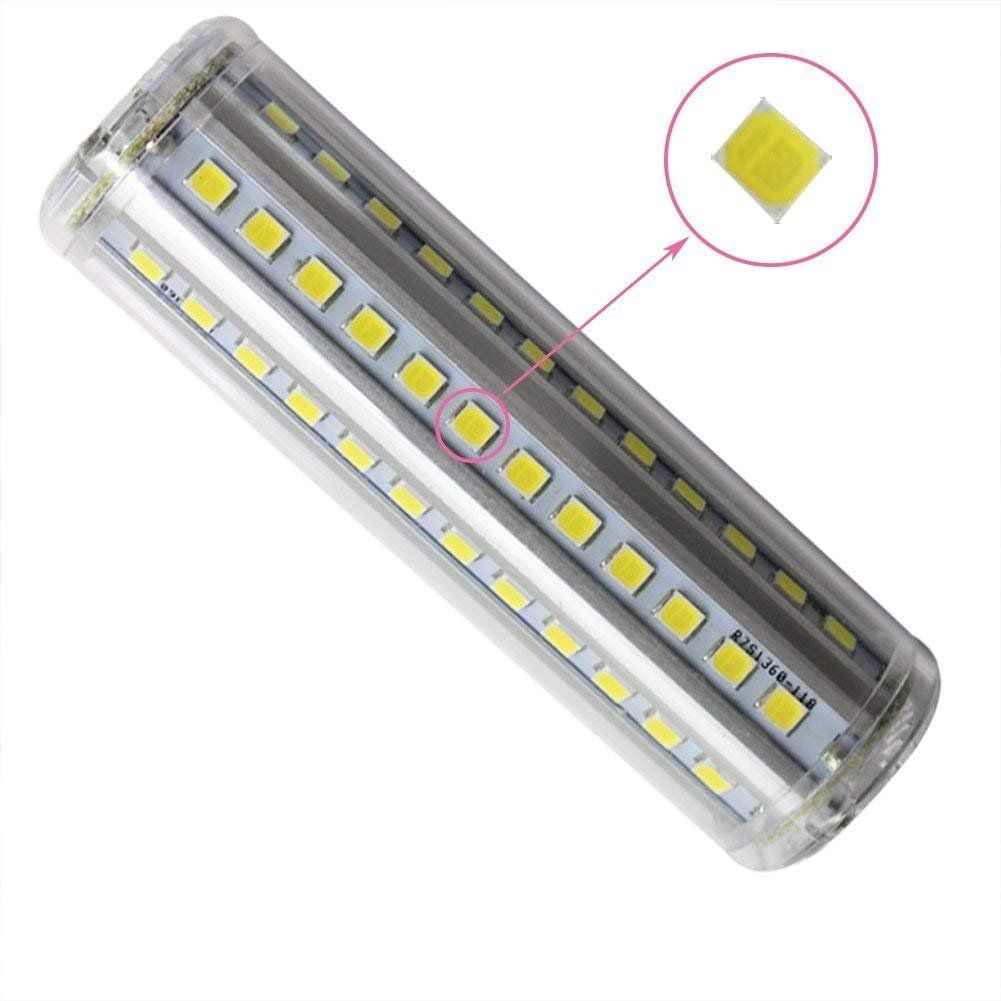 Rowrun R7s Led 118mm Daylight White 6000k 10w 100w Equivalent Non Dimmable 1000lm 72pcs 2835smd Ac85265v J118 Type J Floo Flood Lights Light Bulb Halogen Bulbs