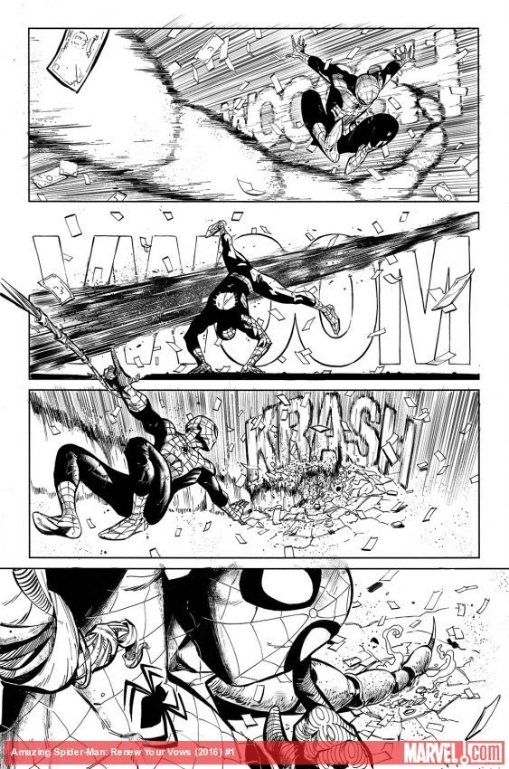 Amazing Spider-Man: Renew Your Vows (2016) #1 preview inks by Ryan Stegman