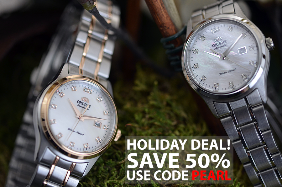 Holiday Deal! Save 50% on the Charlene with code PEARL. Ends 12/6/2014 at 11:59 PM PST! http://bit.ly/PPeilJ #orientwatch #jewelry