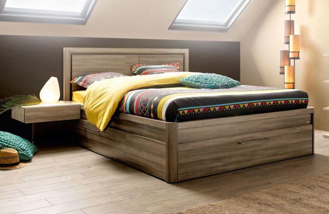 lit coffre 3 tiroirs 140x190 collection talmont fabricant de meubles gautier - Lit Gautier