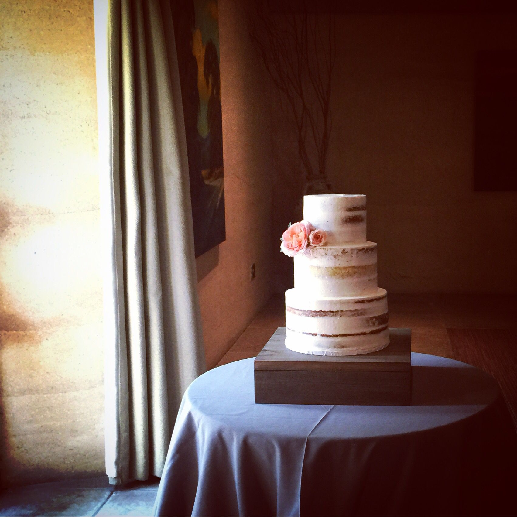 Semi Naked Wedding Cake Consists Of Carrot Cake Lemon Poppy Seed Cake And