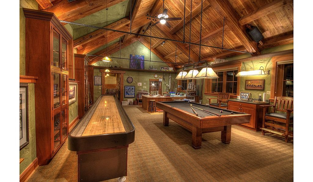 Photo courtesy of edward andre. Home Improvement Archives   Rustic games, Game room, Game ...