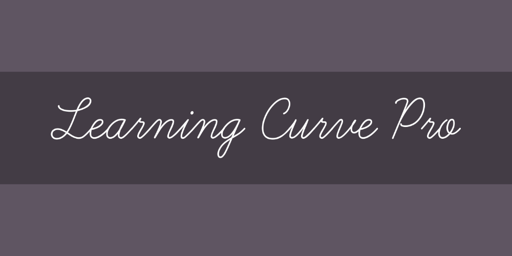 Learning Curve Pro Font Free By Blue Vinyl Fonts Font Squirrel In 2020 Free Font Lettering Alphabet Font Squirrel