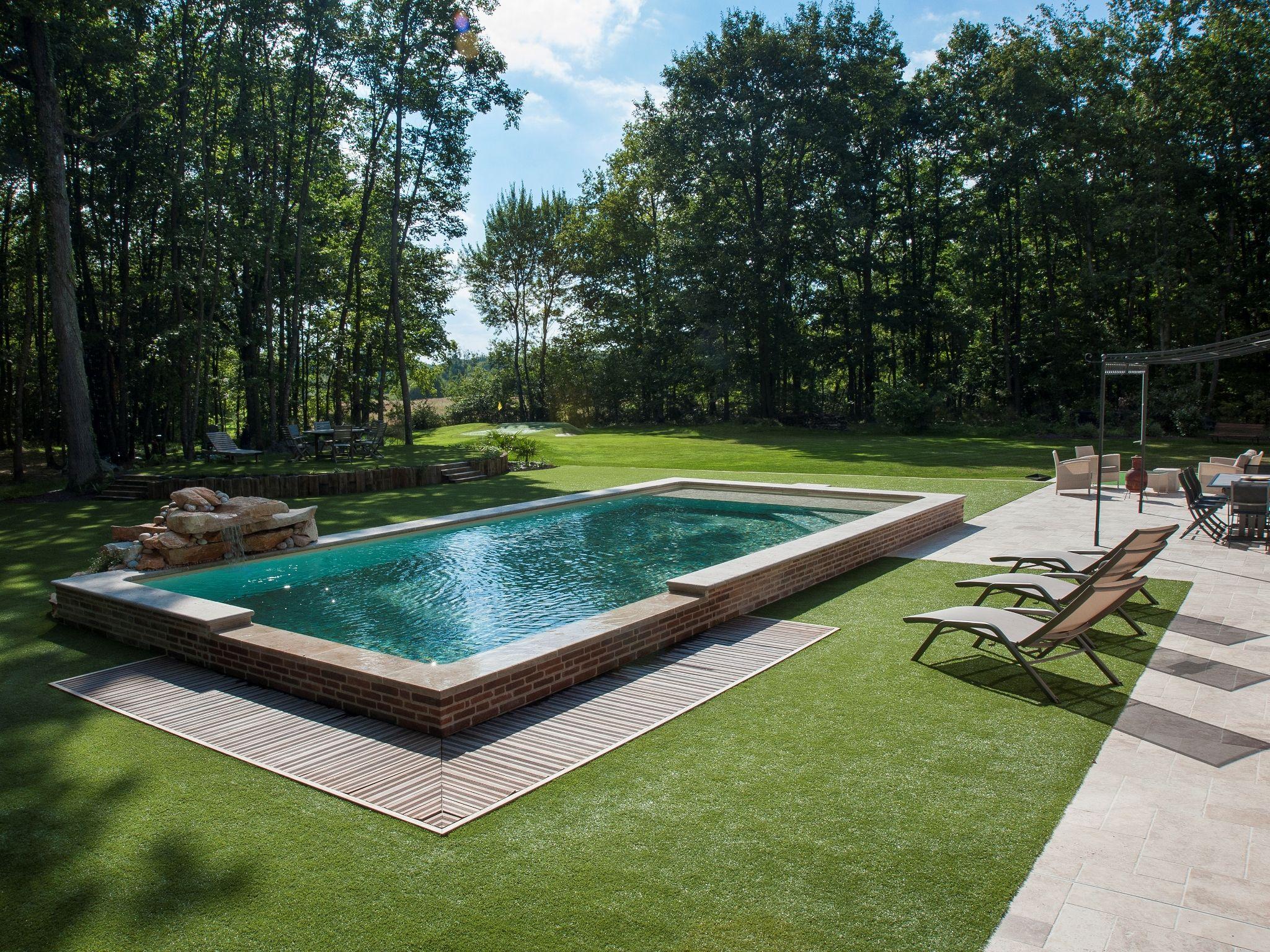le d bordement par l 39 esprit piscine 9 50 x 4 50 m rev tement sable touch relax escalier d. Black Bedroom Furniture Sets. Home Design Ideas