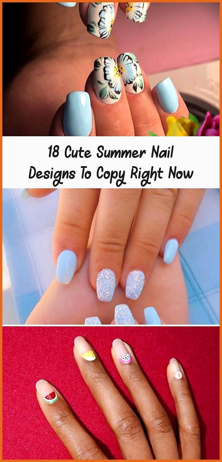18 Leuke zomerse nagelontwerpen om nu te kopiëren – #Een moment …