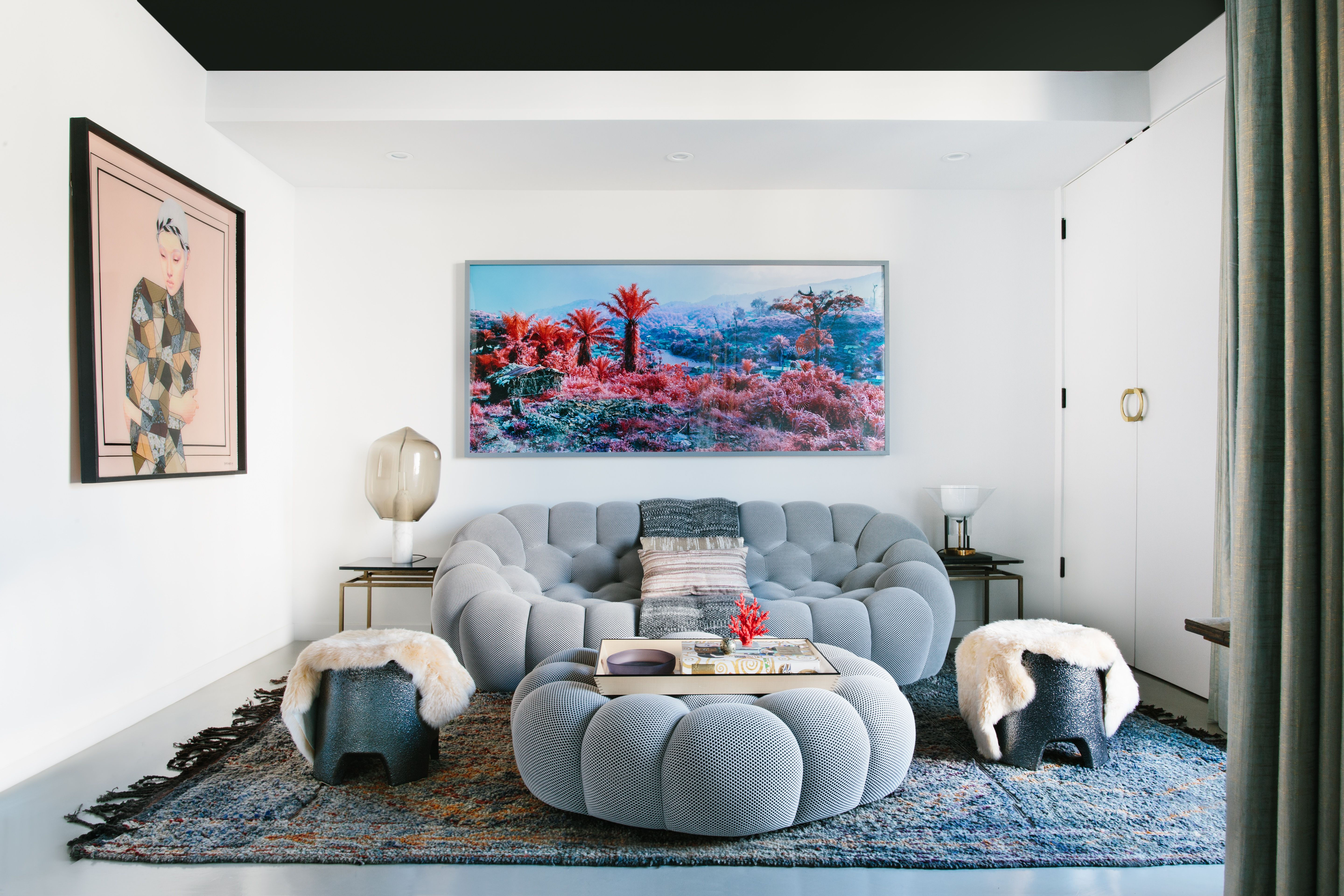 Modern Eclectic Den Black Lacquer Design With Images
