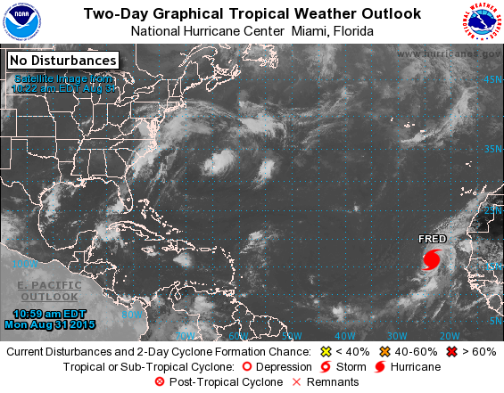 Atlantic 2 Day Graphical Tropical Weather Outlook National Hurricane Center Florida Hurricane Tropical