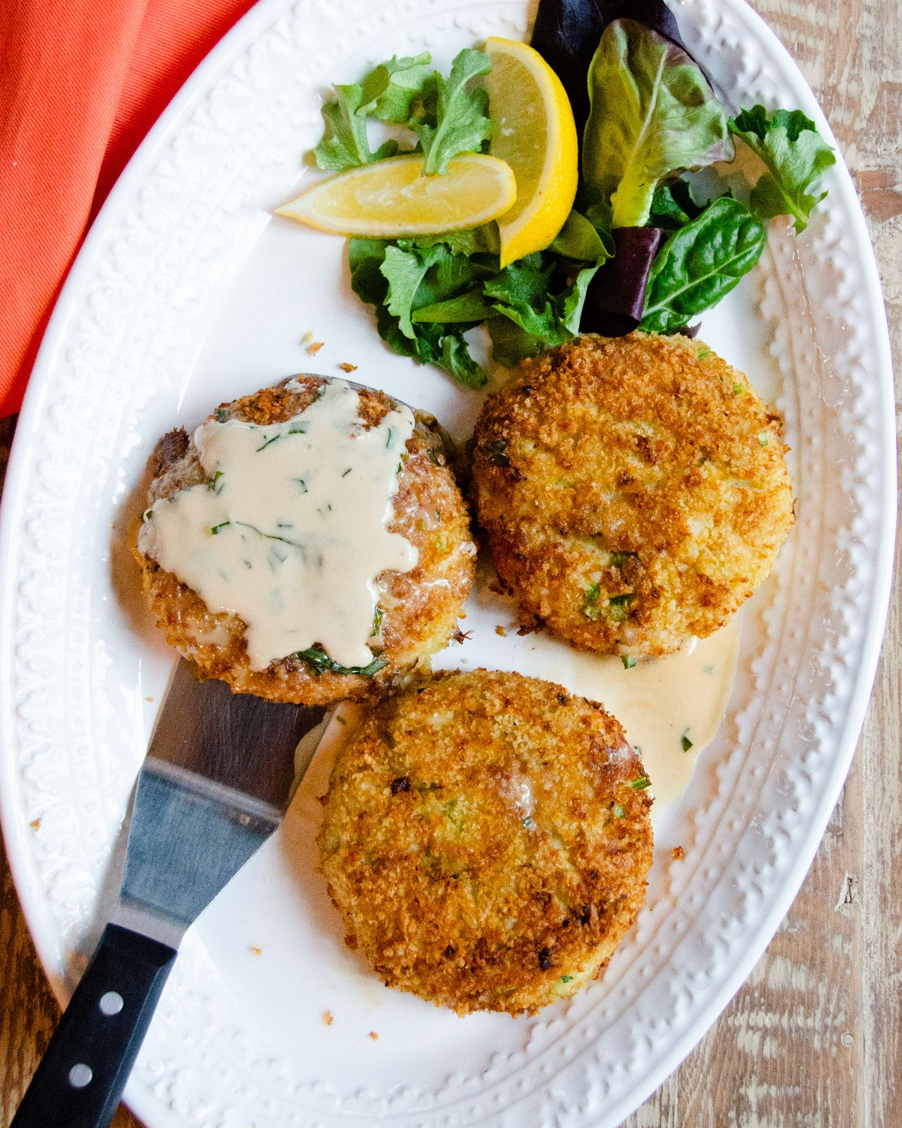 Crab cakes air fryer version recipe with images