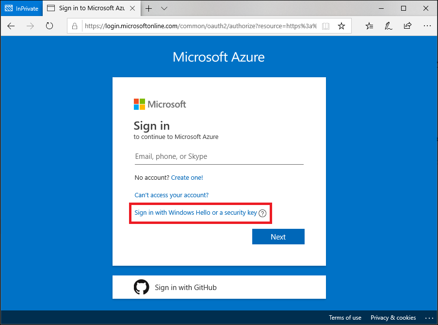 Azure Active Directory passwordless sign in (preview