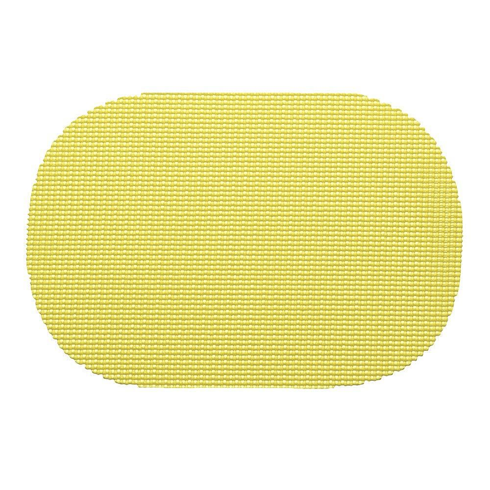 """Kraftware Fishnet Oval Placemat - 17"""" x 12""""/Set of 12 - Yellow"""