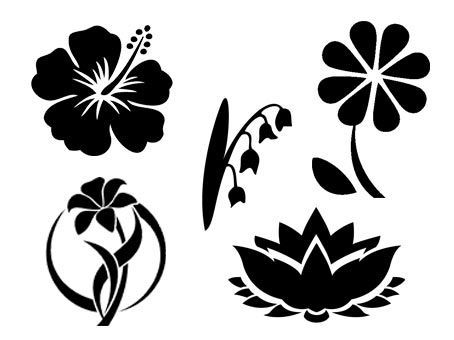 Fleurs Fichiers Svg Et Silhouette Studio Gratuits Orchidee