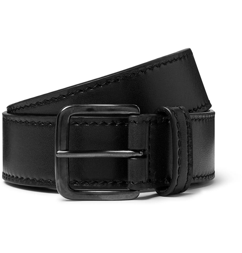 Black 3 5cm Brown Leather Belt Dries Van Noten Brown