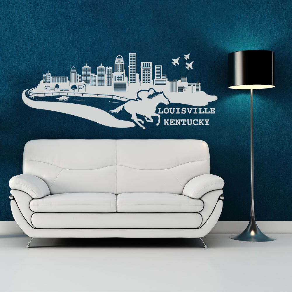 Show Your Love For Louisville Kentucky With A Vinyl Decal - Instructions on how to put up a wall sticker