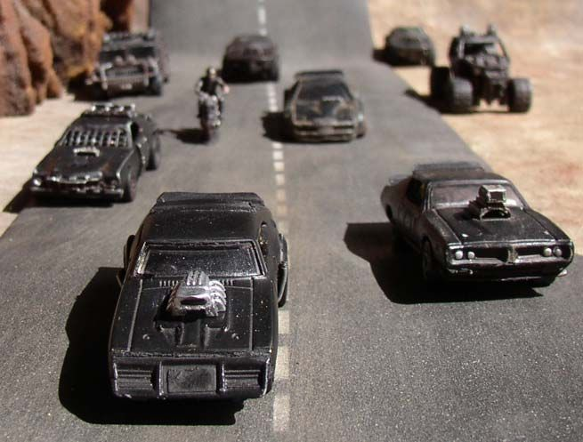 Mad Max style Hot Wheels and Matchbox cars.